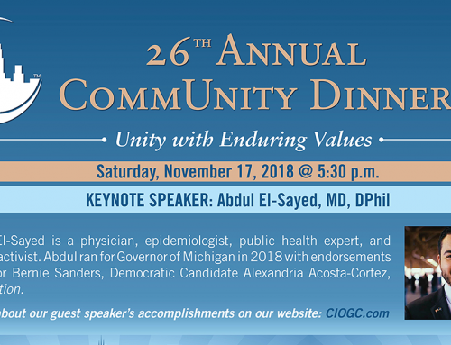 RSVP for CIOGC's 26th Annual CommUnity Dinner, Nov. 17